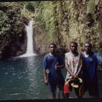 Richard, Keith, and Allen at Siviri waterfall